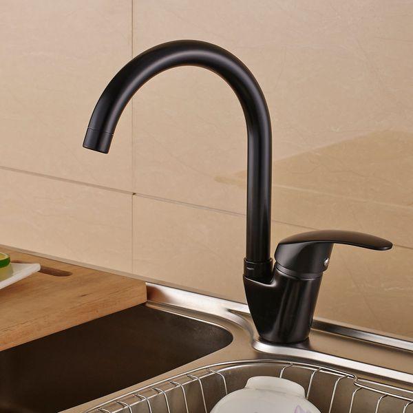 Sanlingo Modern Design Rotatable Kitchen Sink Water Tap Black – Bild 2