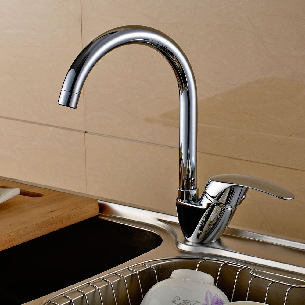 sanlingo modern design kitchen sink water tap rotatable chrome taps rh badolymp com chrome kitchen sink chrome kitchen sink soap dispenser