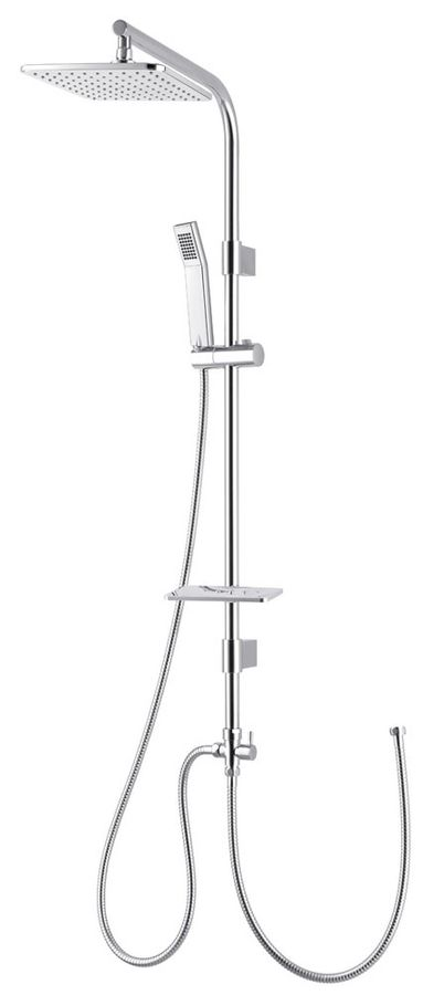 Design Chrome Shower Head  Rainshower Handshower Soap Dish Bar Bath – Bild 1