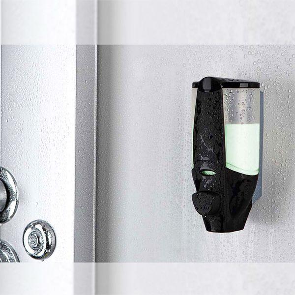Single Soap Gel Dispenser Bath Bathroom Shower Black Wall Mounting Sanlingo – Bild 1