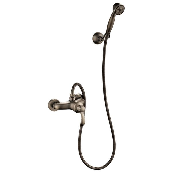 Retro Bath Shower Set Single Lever Water Tap Hand Shower Antique Brass Sanlingo TILO – Bild 1
