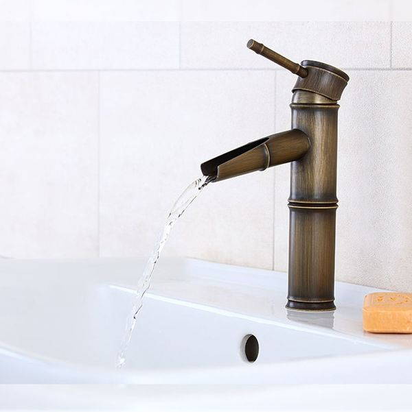 Nostalgia Retro Bath Wash Basin Single Lever Water Tap Antique Brass Sanlingo Pump IRIS – Bild 1