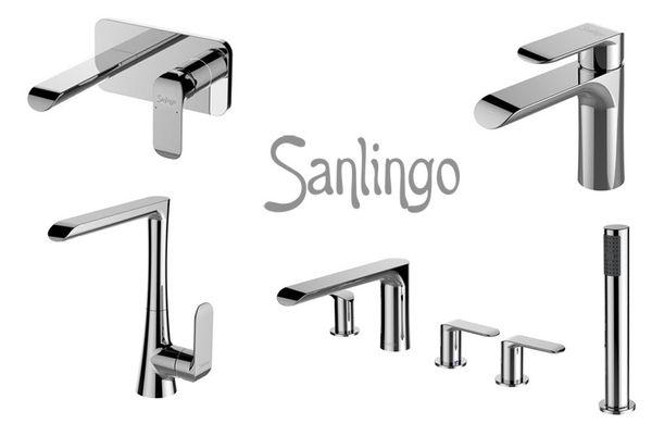 Modern Design 5 Loch Armatur Badewanne Wannenrand Chrom Sanlingo Serie ANIK – Bild 3