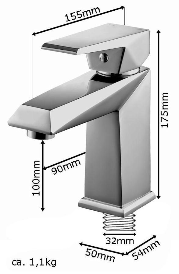 KOSI Series Modern Bath Bathroom Washbasin Washstand Single Lever Water Tap Chrome Sanlingo – Bild 2