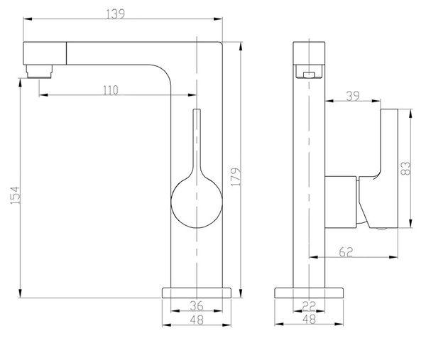 Modern Design Bathroom Water Tap Single Lever Wash Basin White Chrome Sanlingo – Bild 2