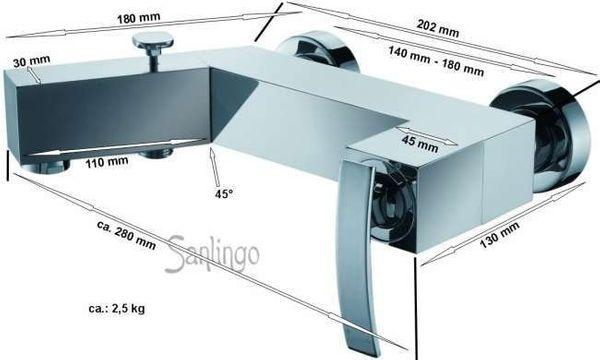 Designer Bath Shower Mixer Taps Sanlingo TEMA – Bild 2