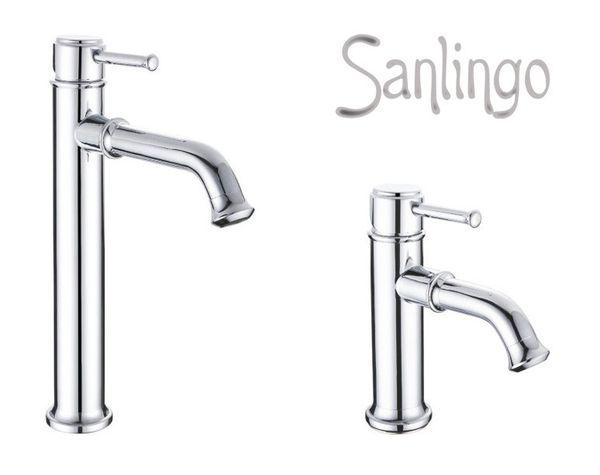 SALO Series Retro Bath Bathroom Washbasin Washstand Washbowl Single Lever Water Tap Chrome Sanlingo – Bild 3