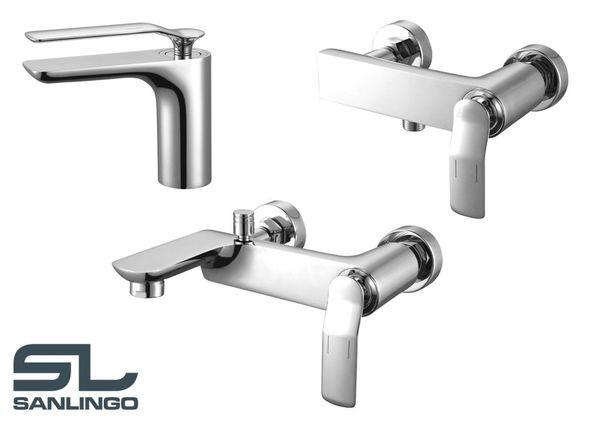 Modern Stylish Design Bath Shower Single Lever Tap Chrome Sanlingo KORA Series – Bild 3