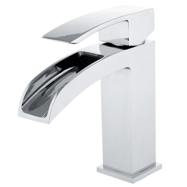 LUZI Series Design Bath Bathroom Washbasin Washstand Single Lever Water Tap Chrome Waterfall Sanlingo – Bild 1