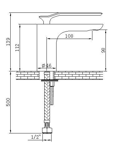 Moderne Design Einhebel Armatur Bad Waschbecken Schwarz Chrom Sanlingo – Bild 2