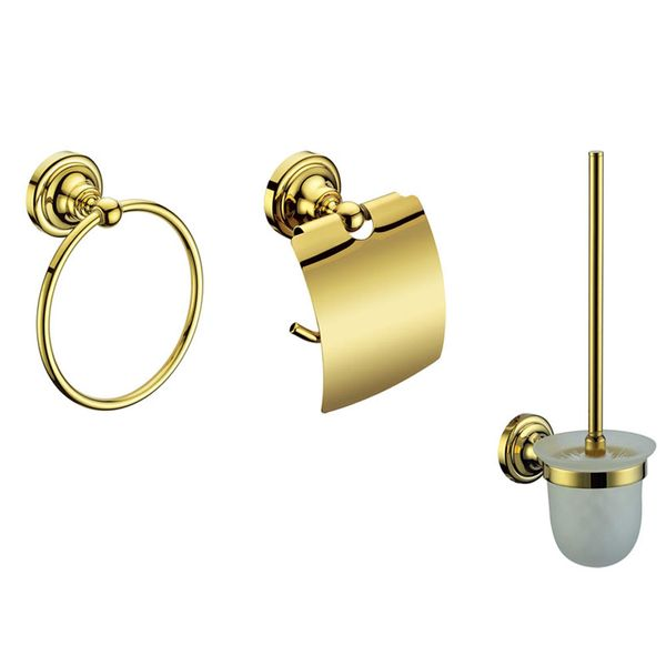 Luxury Toilet Brush WC Lavatory Bathroom Gold Design Sanlingo – Bild 4