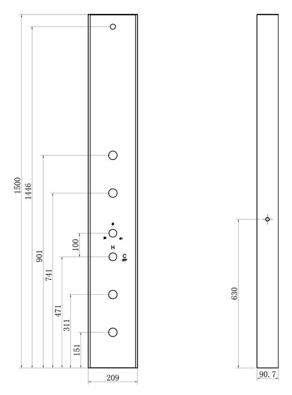 LED Glass Shower Column Shower Panel Rain and Hand Shower Massage Sanlingo – Bild 2