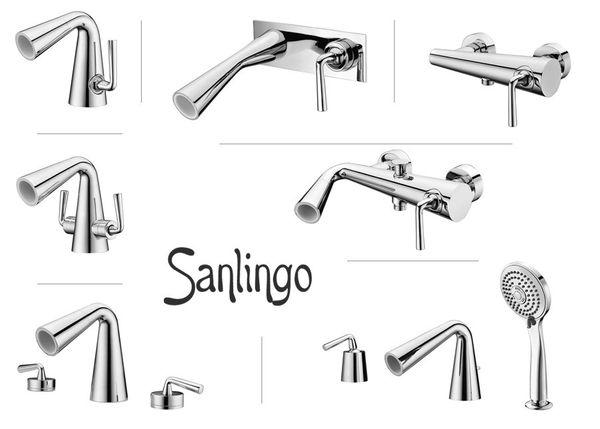 Modern Stylish Design Bath Shower Single Lever Tap Chrome Sanlingo JOLE Series – Bild 3