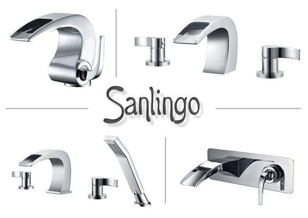 Beautiful Bath Bathroom Two-handle Tap 3hole Wash Basin Bathtub Chrome Sanlingo TORA Series – Bild 3