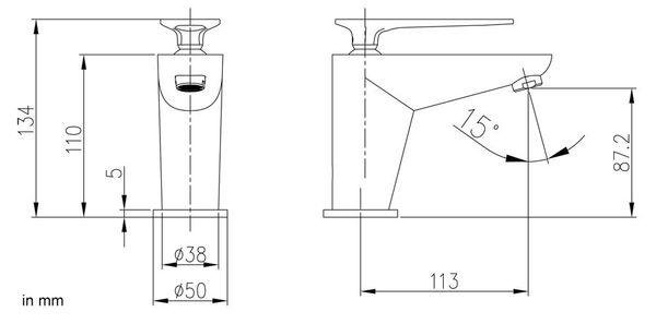 Modern Classic Design Bathroom Single Lever Water Tap Wash Bowl Basin Chrome Sanlingo – Bild 3