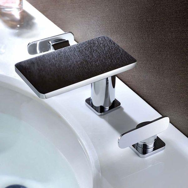 Beautiful Bath Bathroom Two-handle Tap 3hole Wash Basin Bathtub Chrome Sanlingo MYTO Series – Bild 1