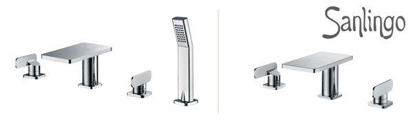 Beautiful Bath Bathroom Two-handle Tap 3hole Wash Basin Bathtub Chrome Sanlingo MYTO Series – Bild 4