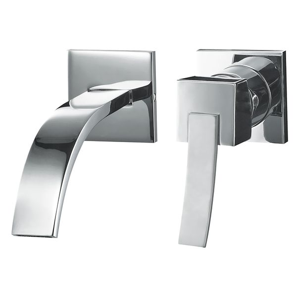 Modern Design 2 hole Concealed Water Tap Single Lever Wash Basin Sanlingo Chrome – Bild 1