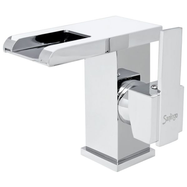 LED Modern Bath Bathroom Wash Basin Water Tap Single Lever Chrome Sanlingo – Bild 2