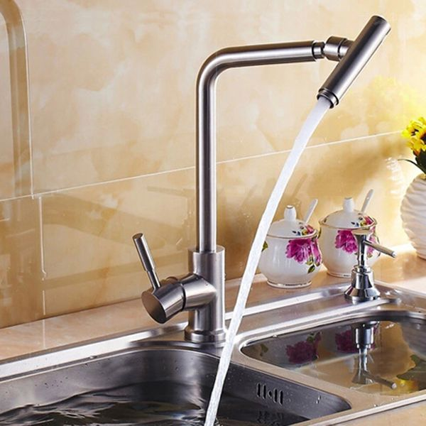 Modern Rotatable Massive Stainless Steel Kitchen Sink Water Tap Single Lever Sanlingo – Bild 1