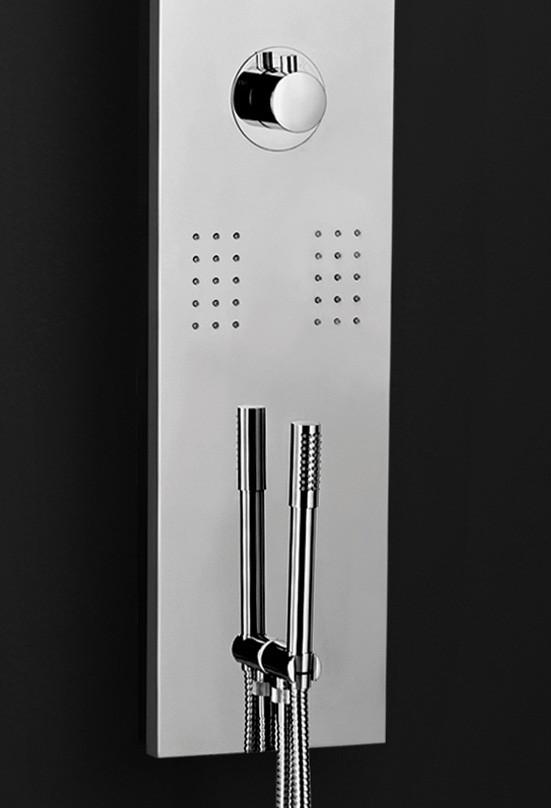 Acier Inox Lucido LED Colonna Doccia a Pioggia Doccetta Massaggio Sanlingo – Bild 3