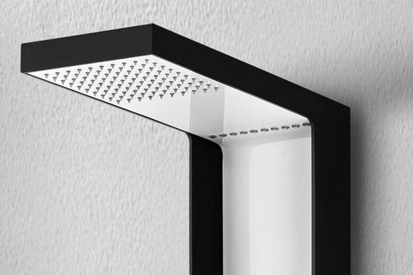 Aluminium LED Shower Panel Column Rain Shower Hand Shower Massage White Black Sanlingo – Bild 3
