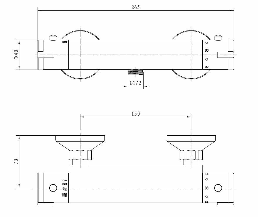modern sanlingo designer brause armatur duscharmatur thermostat chrom bad armaturen dusche design. Black Bedroom Furniture Sets. Home Design Ideas