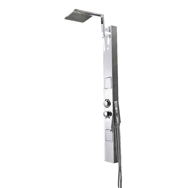 Stainless Steel Specular Shower Column Panel Thermostat Rain Shower Massage Sanlingo – Bild 1