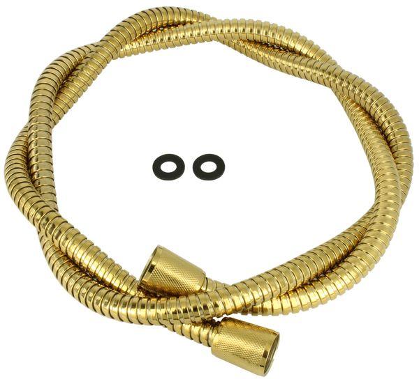 Flexibler Brauseschlauch Dusche Schlauch 150 cm Gold Metall Sanlingo
