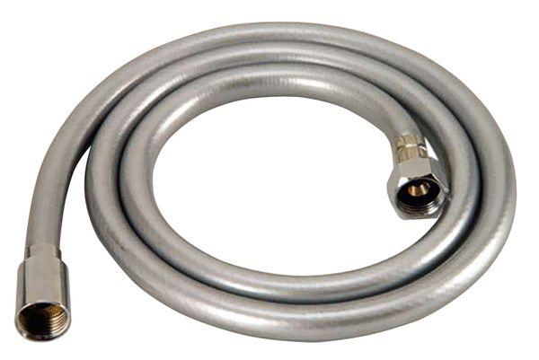 150cm PVC Brauseschlauch in Silber