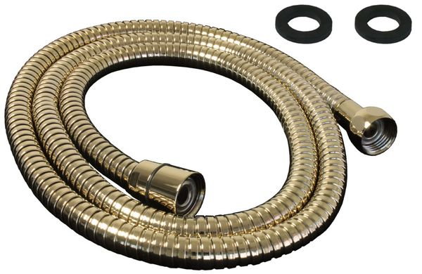 Flexibler Brauseschlauch Dusche Schlauch 200 cm Gold Metall Sanlingo – Bild 1