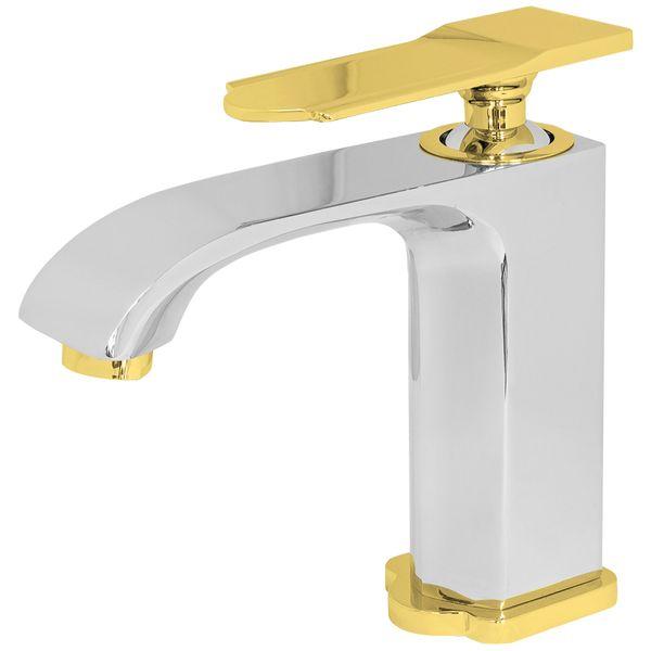 Moderne Bad Design Einhebel Wasserhahn Armatur Waschbecken Chrom Gold Sanlingo – Bild 2