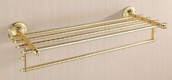 Bathroom Luxury Fivefold Towel Bar Wall Mounting Gold Sanlingo Series BS2 – Bild 1
