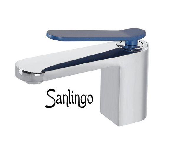 Cromo blu design rubinetto miscelatore monocomando bagno lavabo