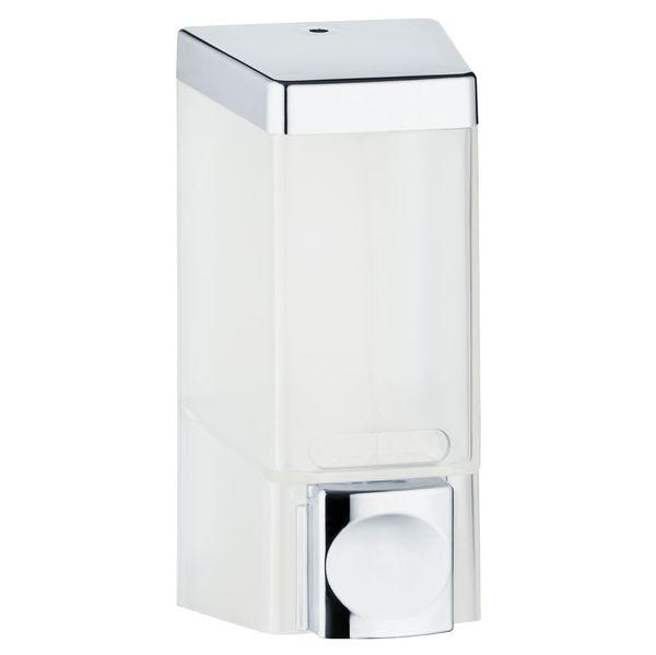 Singolo Dispenser di Sapone Doccia Bagno Cucina Montaggio a parete Bianco Cromo Sanlingo – Bild 1