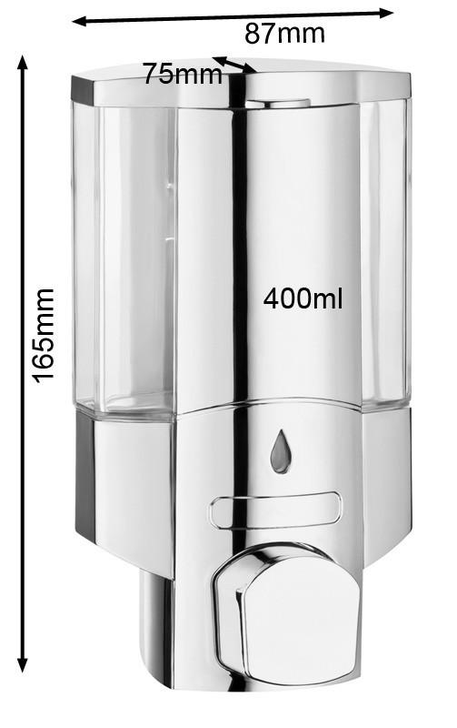 Cromo Singolo Dispenser di Sapone Doccia Bagno Cucina Montaggio a parete Sanlingo – Bild 2