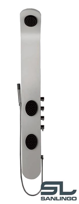 Aluminium Duschpaneel Komplettdusche Duschsäule Weiß Massage Regendusche Sanlingo – Bild 3