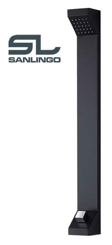 Aluminium Shower Panel Tower Rain Shower Black Sanlingo – Bild 2