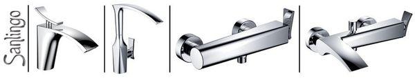 Modern Design Einhebel Badezimmer Bad Armatur Waschbecken Chrom Sanlingo JARO – Bild 2