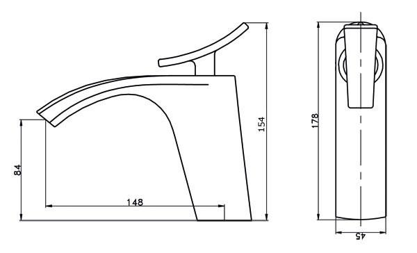 Modern Design Bath Single Lever Tap Mixer Chrome Sanlingo JARO – Bild 2