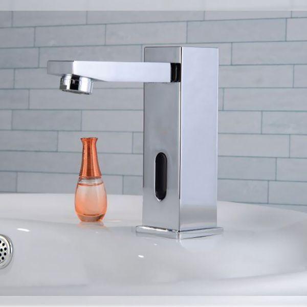 Infrarot IR Armatur Wasserhahn Automatik Waschbecken Chrom Kalt und Warmwasser – Bild 3