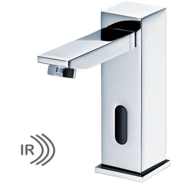 Infrarot IR Armatur Wasserhahn Automatik Waschbecken Chrom Kalt und Warmwasser – Bild 2