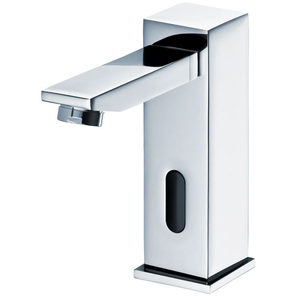 Infrared IR Water Tap Automatic Wash Basin Cold and Hot Water Chrome – Bild 1
