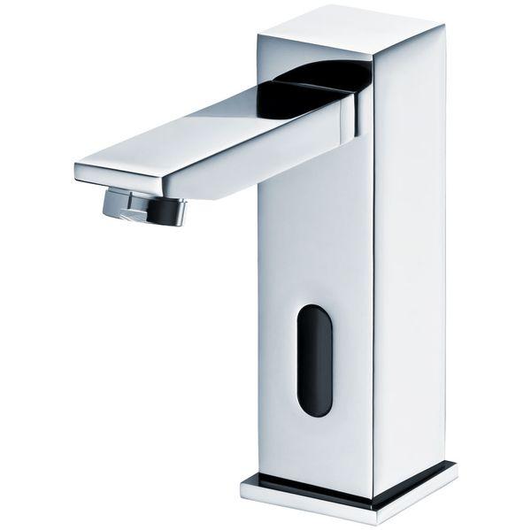 Infrarot IR Armatur Wasserhahn Automatik Waschbecken Chrom Kalt und Warmwasser – Bild 1