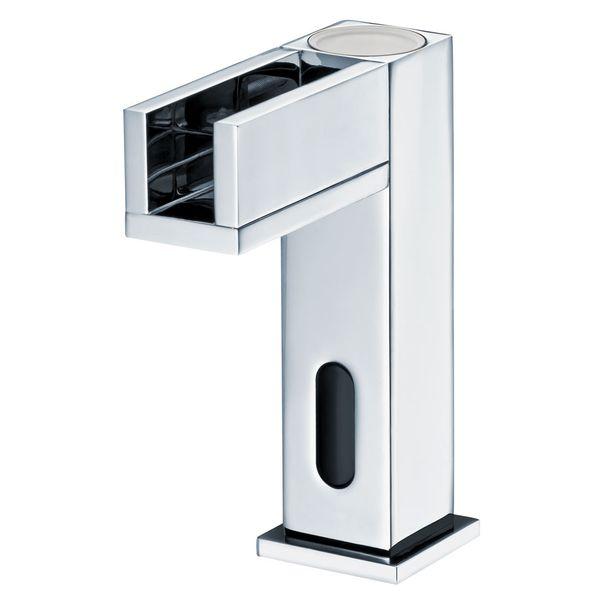 IR Infrarot LED Armatur Wasserhahn Automatik Waschbecken Chrom Kalt- und Warmwasser – Bild 1