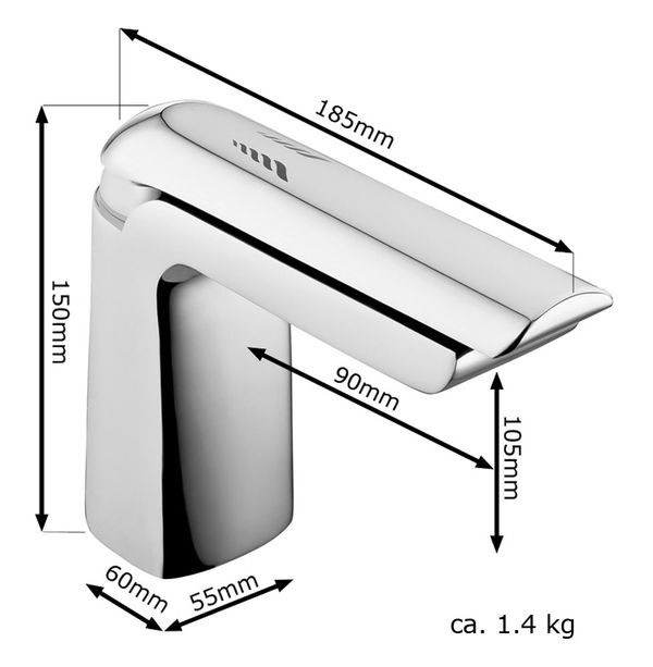 MIRO Series Design Bath Bathroom Washbasin Washstand Single Lever Water Tap Chrome Sanlingo – Bild 2