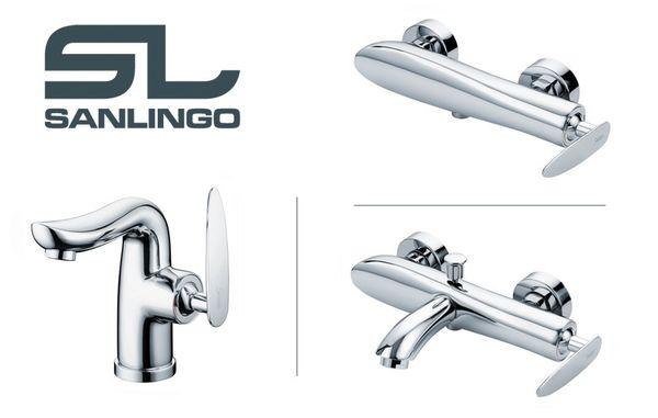 Modern Stylish Design Bath Shower Single Lever Tap Chrome Sanlingo ENNO Series – Bild 3