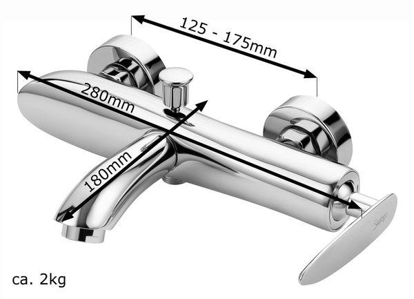 Modern Design Einhebel Badezimmer Bad Armatur Badewanne Chrom Sanlingo Serie ENNO – Bild 2