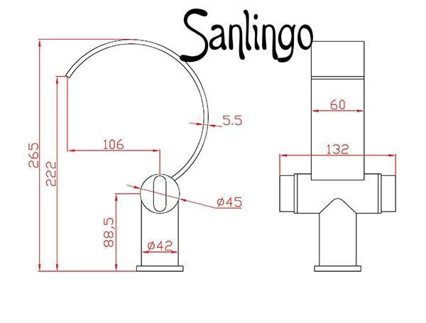 Design Style Tap Basin Faucet Mixer Chrome Sanlingo – Bild 3