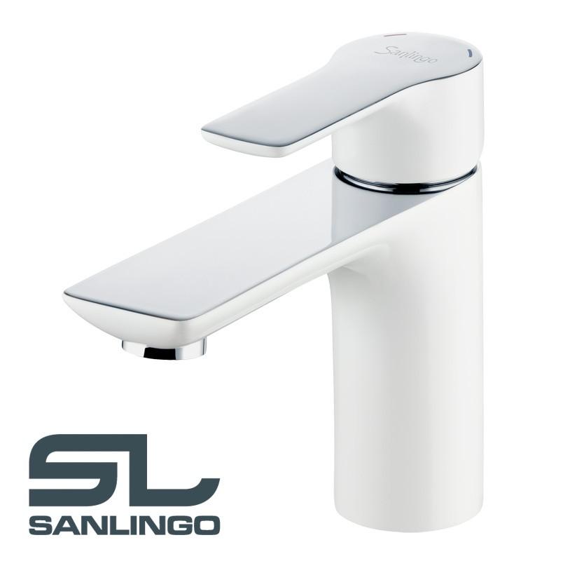 Design Salle de Bain Lavabo Mitigeur Robinet Levier Unique Blanc